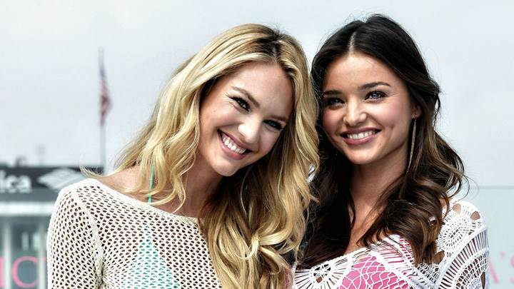 Laughing Face Miranda Kerr N Candice Swanepoel At Victoria's Secret SWIM Collection